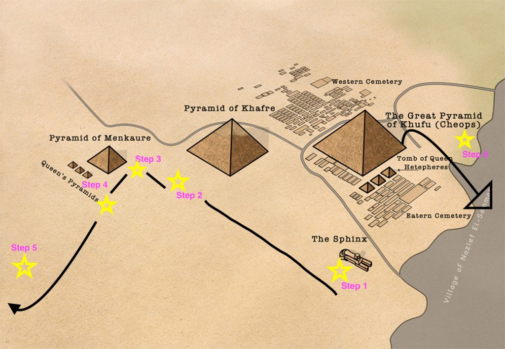 How To Get The Best Photos At The Pyramids Of Giza Solo Female - Map of egypt pyramids and sphinx